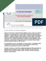 e-Literatura Digital. Ana Galindo.