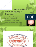 Resourcing the New Area of Study - Discovery A