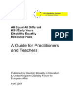 All Equal All Different Teachers Guide Text Only