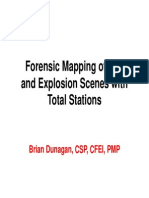 B Dunagan - Forensic Mapping of Fire and Explosion Scenes With Total Stations