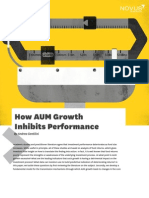 How AUM Growth Inhibits Performance