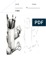 Do a pencil drawing of these objects.doc