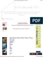 Examen de Bacalaureat 2014_ Subiecte Rezolvate Variante Bacalaureat Biologie Vegetala Si Animala s i