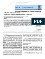 Fungiandsomemycotoxinsproducingspeciesintheairofsoybean andcottonmills:acasestudy
