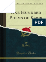 One Hundred Poems of Kabir Tr 1000532772