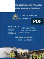 I MODULO DOCTRINA POLICIAL 2015, curso de ascenso.docx