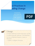 Best Practices in Leading Change