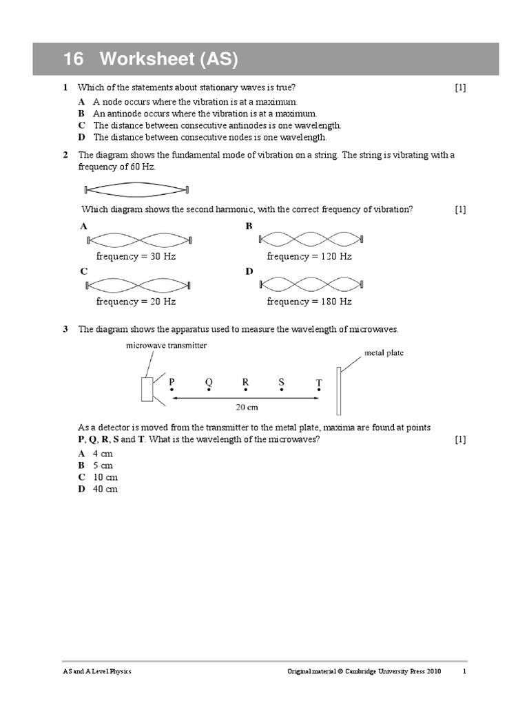 worksheet Diagram Of A Wave Worksheet worksheet 16 pdf waves frequency