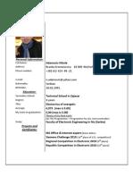 Adamovic Nikola CV - English