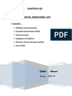 Eml (Essential Medicine list)