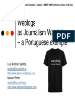 weblogs as journalism watchdogs - a portuguese example