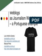 weblogs as journalism watchdogs - a portuguese example
