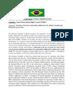 DUNMUN 2013 UNHRC Position Paper Brazil