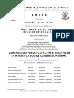 CONTROLE DES PUISSANCES ACTIVE ET REACTIVE DE LA MACHINE A DOUBLE ALIMENTATION (DFIM).pdf