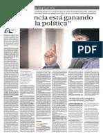 Violencia y Política Perú en el Perú actual