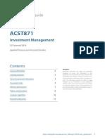ACST871 Unit Guide