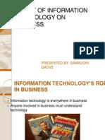 misimpactofinformationtechnologyonbusiness-130720065006-phpapp01