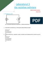 Circuite rezistive neliniare - Laborator ELTH