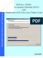 Install Guide MS Exchange Server 2003 on Windows Server 2003 Active Directory v1.1