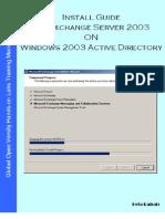Install Guide MS Exchange Server 2003 on Windows Server 2003 Active Directory v1.1