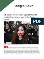Hong Kong's Sour Deal