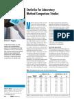 ArticleStatistics for Laboratory Method Comparison Studies