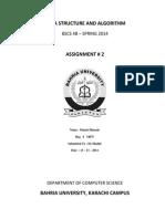 DSA Assignment # 2