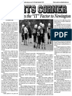 "Hennessy Brings The ""IT"" Factor To Newington Football"