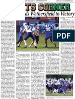 Sanzaro Leads Wethersfield To Victory