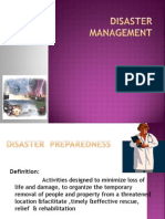 Disaster Preparedness & Mitigation