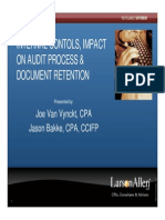 Internal Controls, Impact on Audit Process and Document Retention (3)