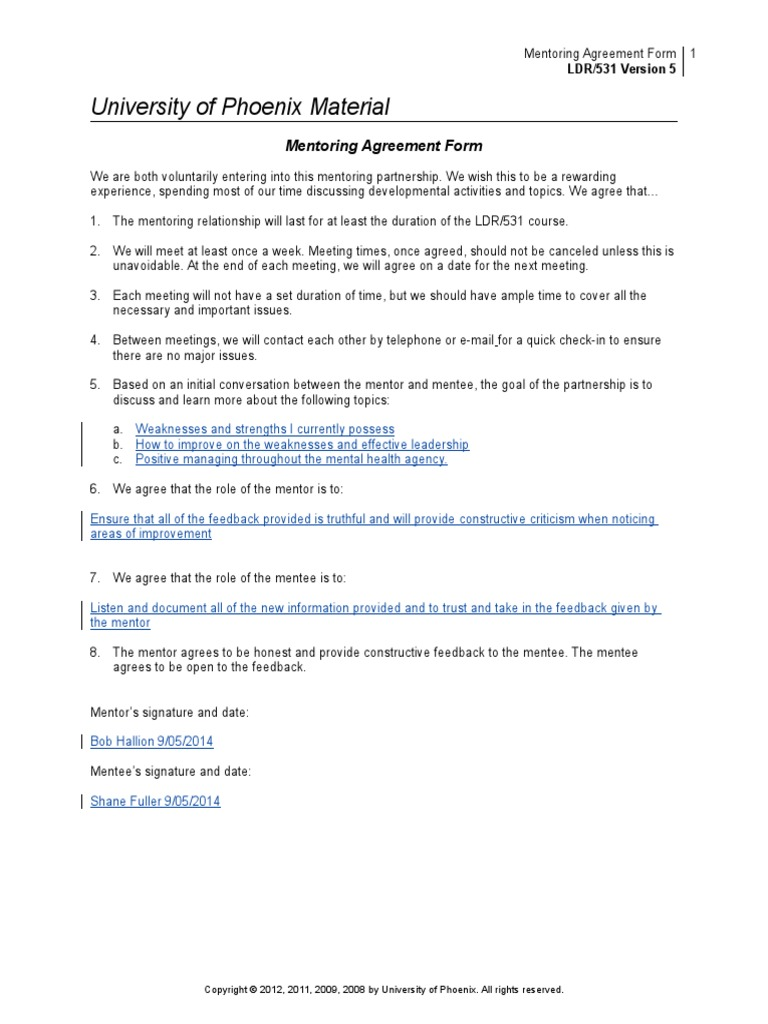 Mentoring agreement form research paper service department of pediatrics mentoring program 1 of 2 annual mentoring evaluation form mentor evaluating the mentee mentoring agreement form platinumwayz