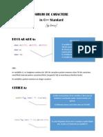 siruri de caractere in C++ Standard
