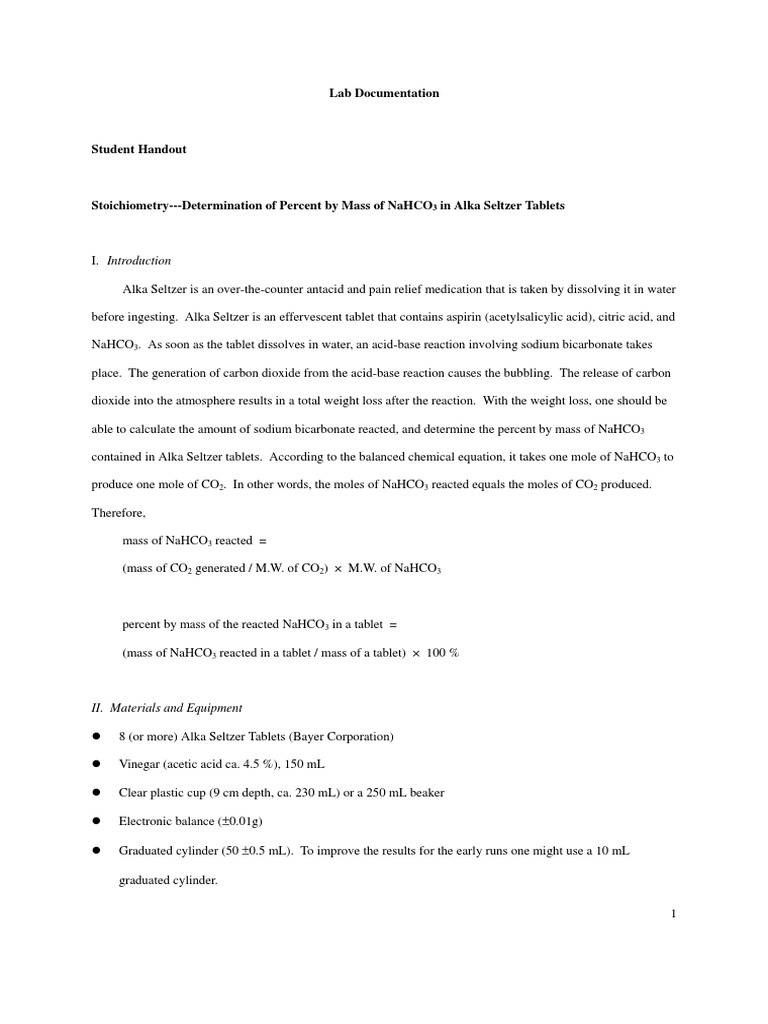 science write up alka seltzer lab essay