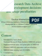 S.Maskeliunas - National Research Data Archive MIDAS