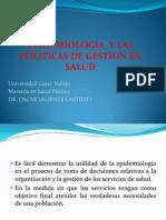 EPIDEMIOLOGIA Y LAS POLITICAS DE GESTION EN SALUD.ppt