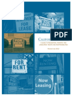 CA Tenants - A Guide to Residential Tenants' and Landlords' Rights and Responsibilities - Revised July 2012