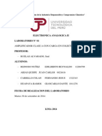 Informe 1 Amplificador de Clase A con Carga en Colector UTP