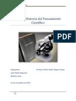 Ensayo Historia del Pensamiento Científico ensayo final word.docx