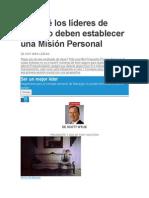 Por qué los líderes de negocio deben establecer una Misión Personal.docx