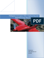 Philippine Aerospace R&D, Engineering and Manufacturing History 1911-2015