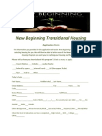 new beginning transitional housing application revised