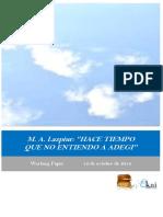 M.A. Lazpiur. HACE TIEMPO QUE NO ENTIENDO A ADEGI