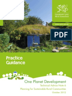 One Planet Development Guidance