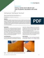Hypergammaglobulinemia, Normal Serum Albumin
