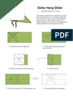 Dollar Hang Glider Origami