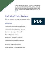 Sap Abap Training Video Tutorial