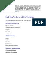 Sap Hana Training Video Tutorial