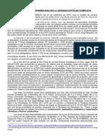HORAS DE LIBRE DISPONIBILIDAD DE LA JORNADA ESCOLAR COMPLETA