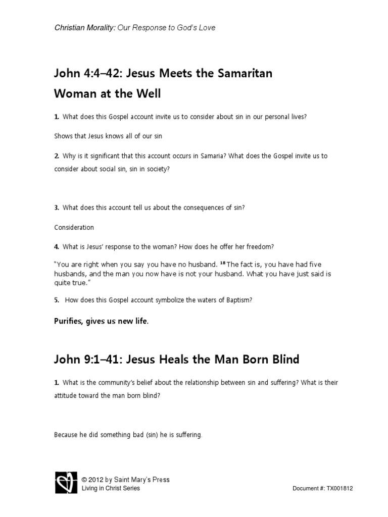 TX001812 2-Handout-F-Gospel Reflections on Sin and Salvation   Gospel Of John   Jesus
